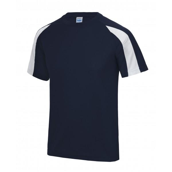 Kontrast T-shirt Polyester Herr
