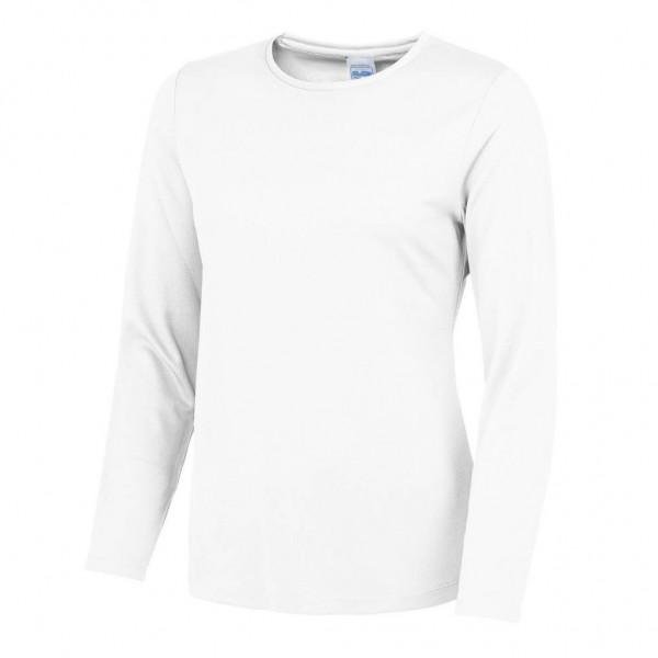 Långärmad Polyester T-shirt Dam