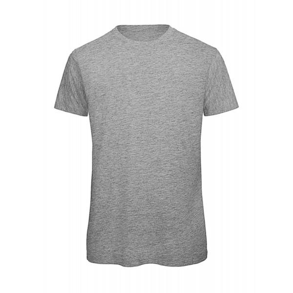 Ekologisk V-ringad T-shirt - Ljus Grå