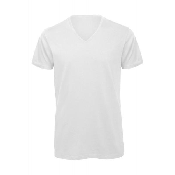 Ekologisk V-ringad T-shirt - Vit