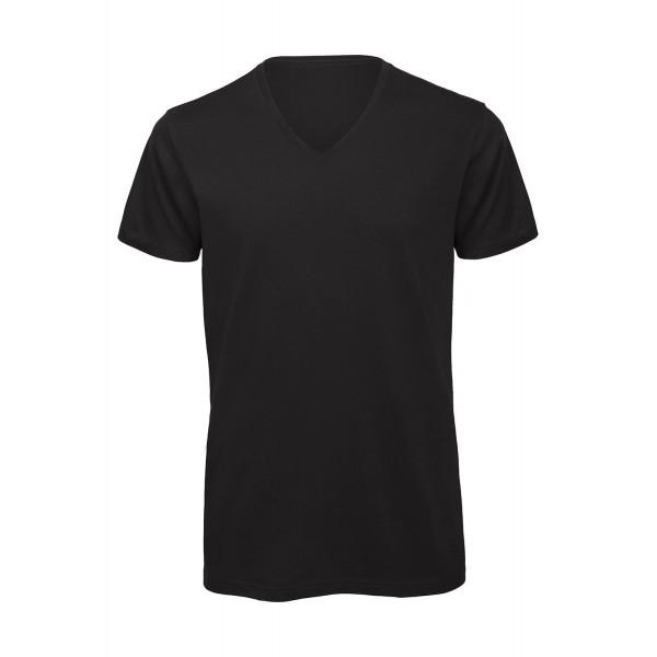 Ekologisk V-ringad T-shirt - Svart