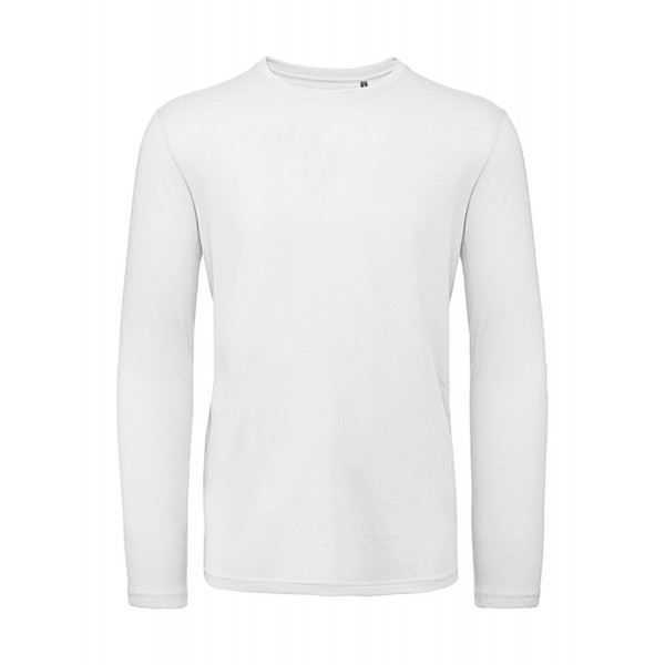 Ekologisk Långärmad T-shirt - Vit