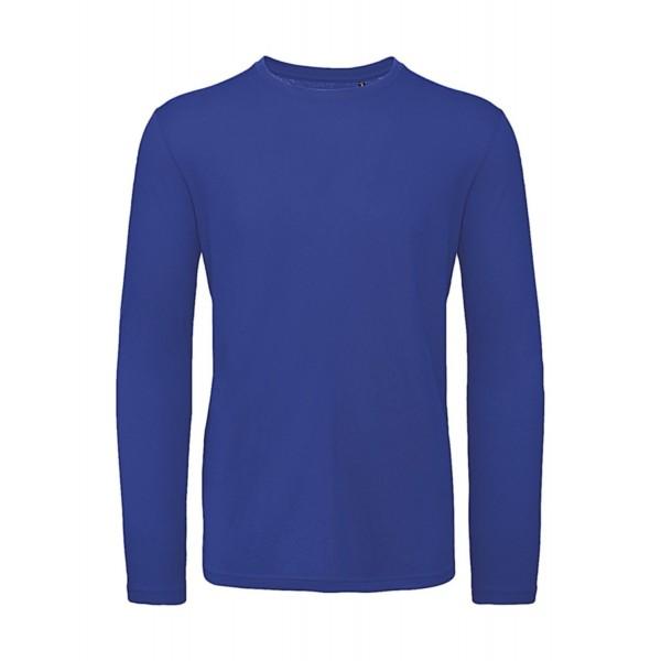 Ekologisk Långärmad T-shirt - Blå