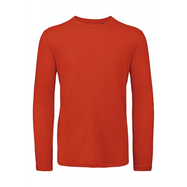 Ekologisk Långärmad T-shirt - Röd