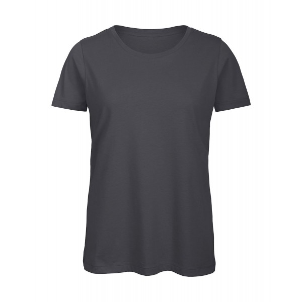 Ekologisk Dam T-shirt - Mörk Grå