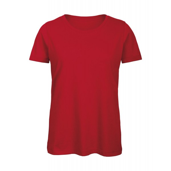 Ekologisk Dam T-shirt - Röd