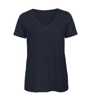 Ekologisk V-ringad Dam T-shirt
