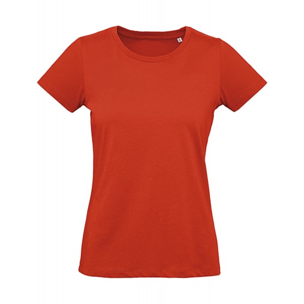 Ekologisk Dam Plus T-shirt - Röd