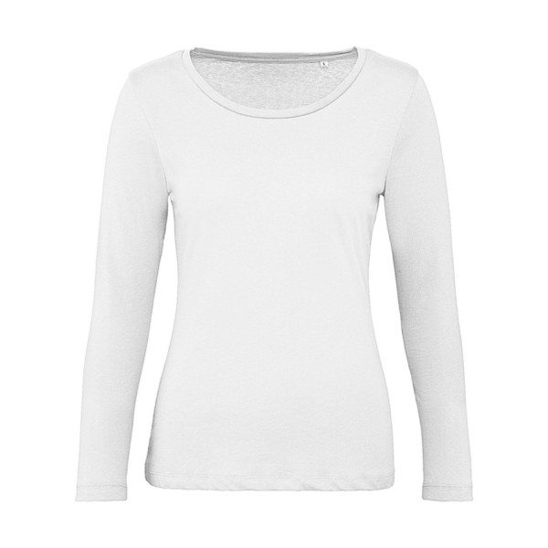 Ekologisk Långärmad Dam T-shirt - Vit