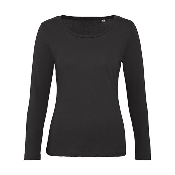 Ekologisk Långärmad Dam T-shirt - Svart