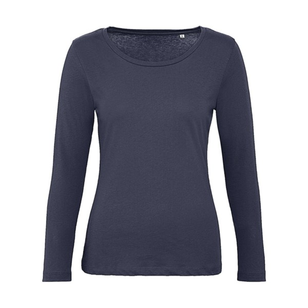 Ekologisk Långärmad Dam T-shirt - Marinblå