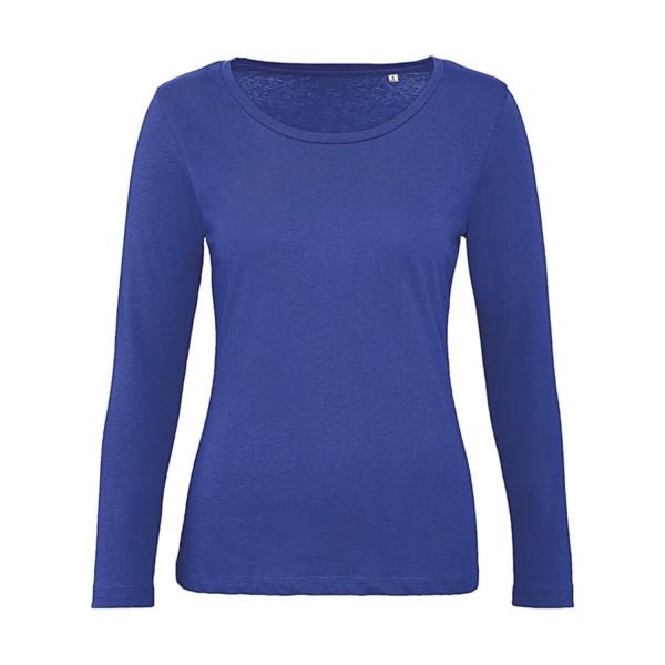 Ekologisk Långärmad Dam T-shirt - Blå