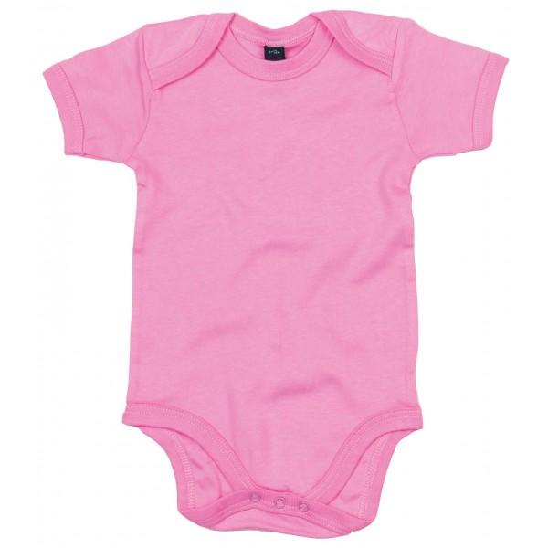 Kortärmad Babyställ - Bubbelgumsrosa