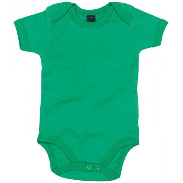 Kortärmad Babyställ - Kellygrön