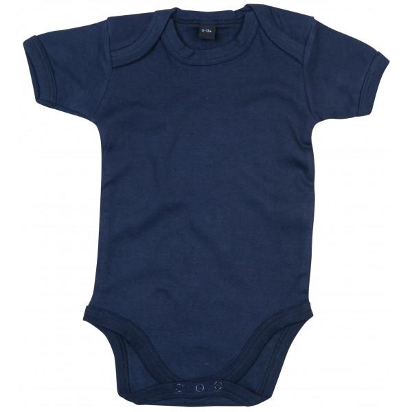 Kortärmad Babyställ - Marinblå