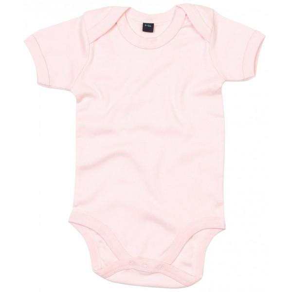 Kortärmad Babyställ - Puderrosa