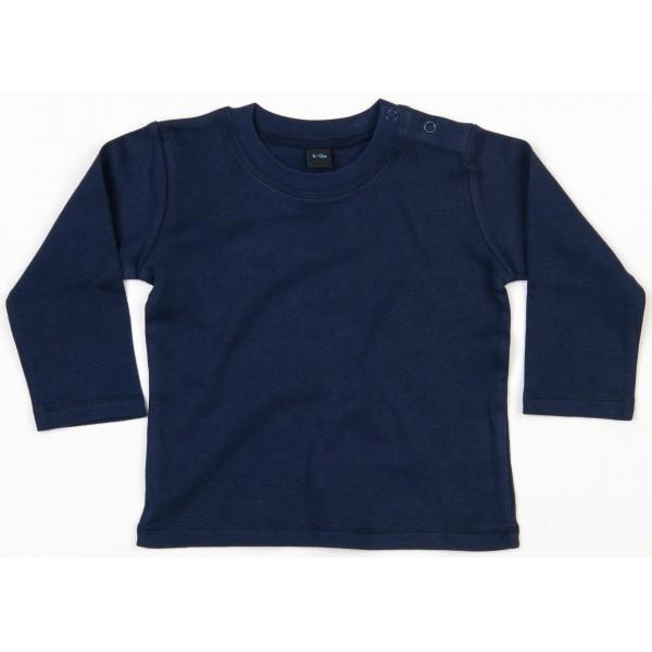 Långärmad Babytröja - Marinblå