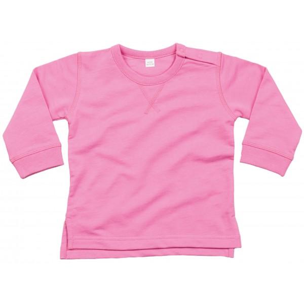 Baby Sweatshirt - Bubbelgumsrosa