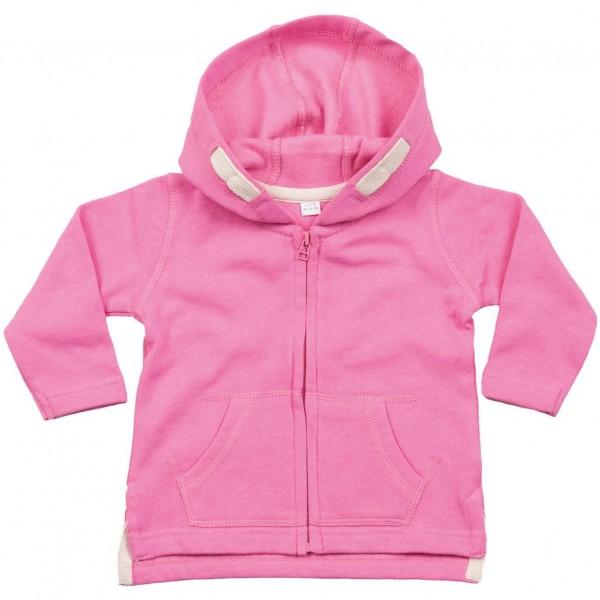 Baby Hoodie - Bubbelgumsrosa
