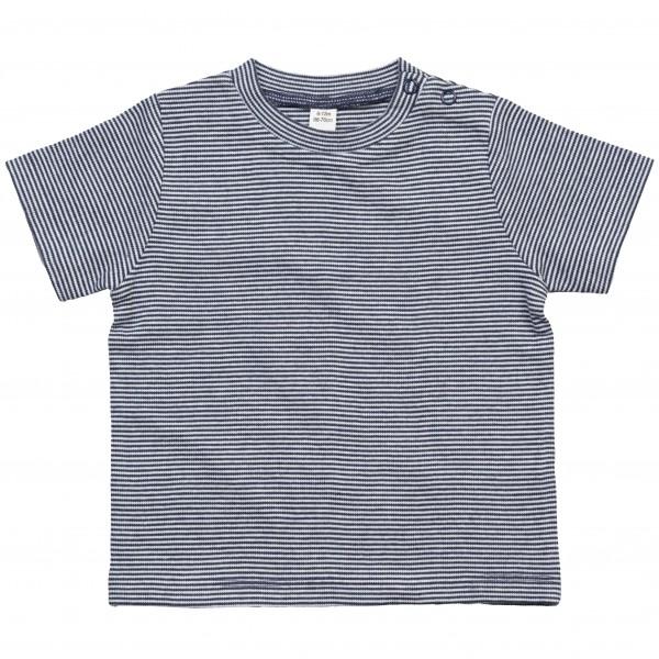 Randig Baby T-shirt - Vit / Marinblå