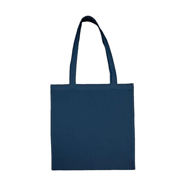 Enkel Bomullskasse med  Långa Handtag - Indigo Blå