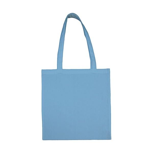 Enkel Bomullskasse med  Långa Handtag - Molnblå