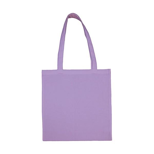 Enkel Bomullskasse med  Långa Handtag - Lavendel