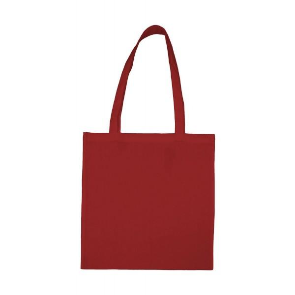 Enkel Bomullskasse med  Långa Handtag - Röd