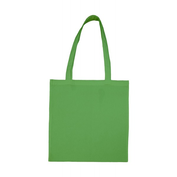Enkel Bomullskasse med  Långa Handtag - Ärtgrön