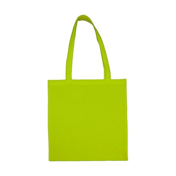 Enkel Bomullskasse med  Långa Handtag - Lime Grön