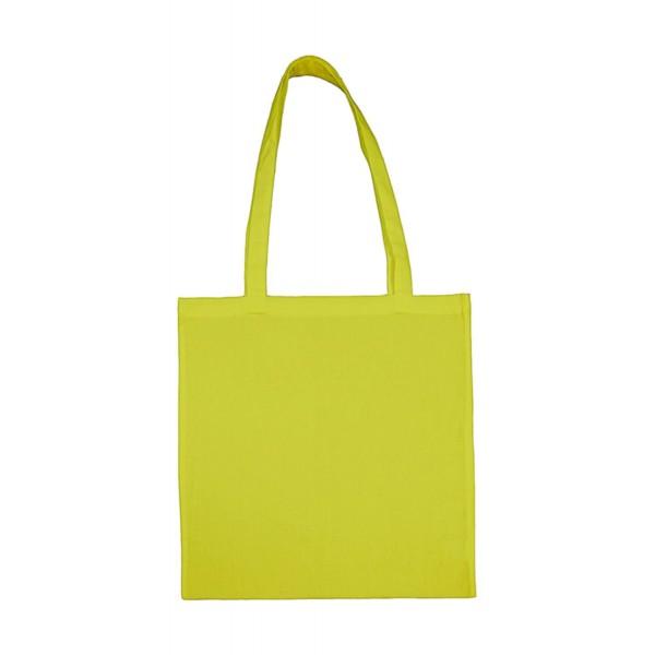 Enkel Bomullskasse med  Långa Handtag - Lemonad Grön