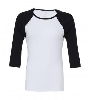 3/4 Kontrast T-shirt Dam