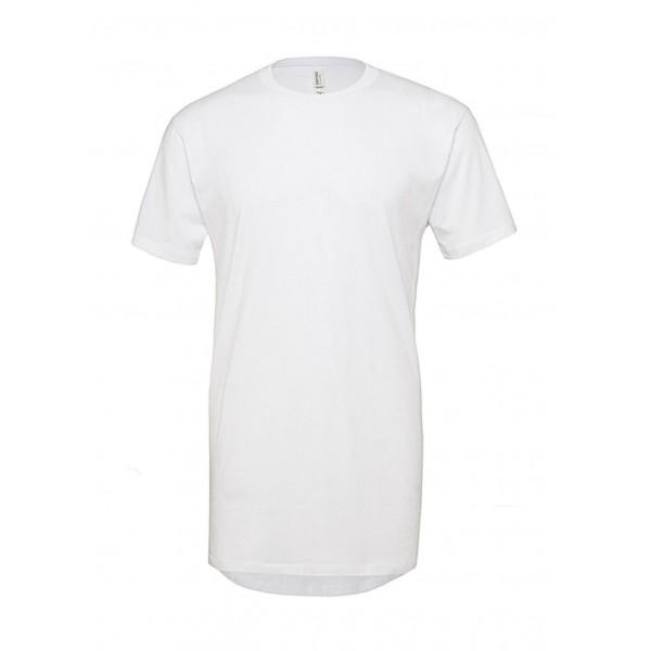Lång T-shirt - Vit