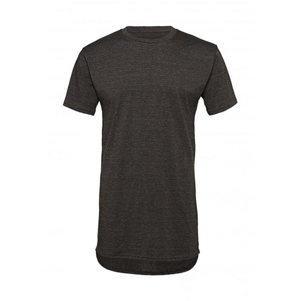 Lång T-shirt - Mörk Grå Heather