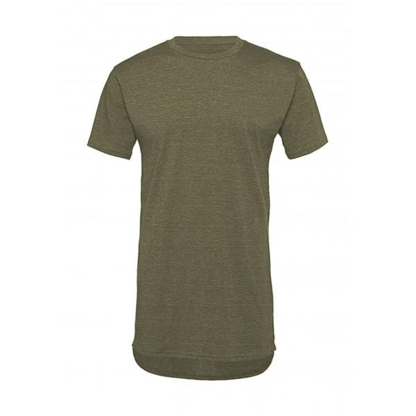 Lång T-shirt - Olive Heather