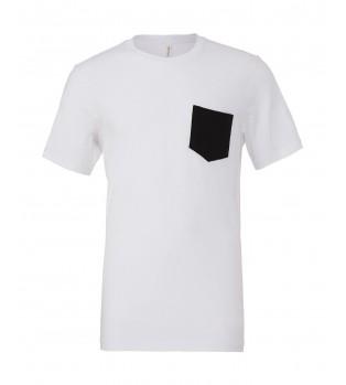 T-shirt med kontrast ficka
