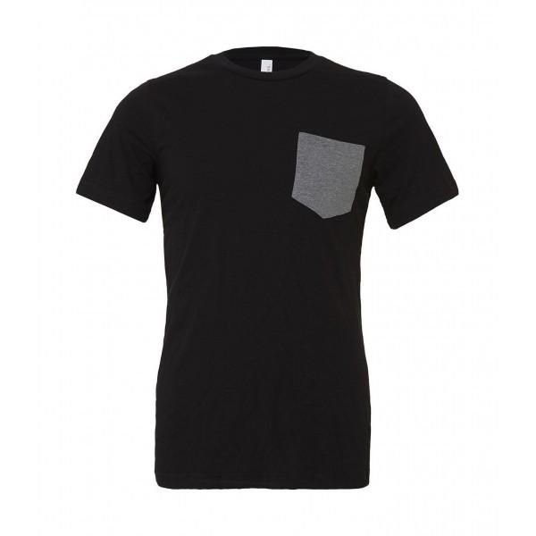 T-shirt - Svart med Grå ficka