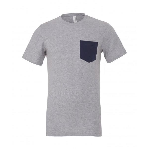 T-shirt - Grå med Svart ficka