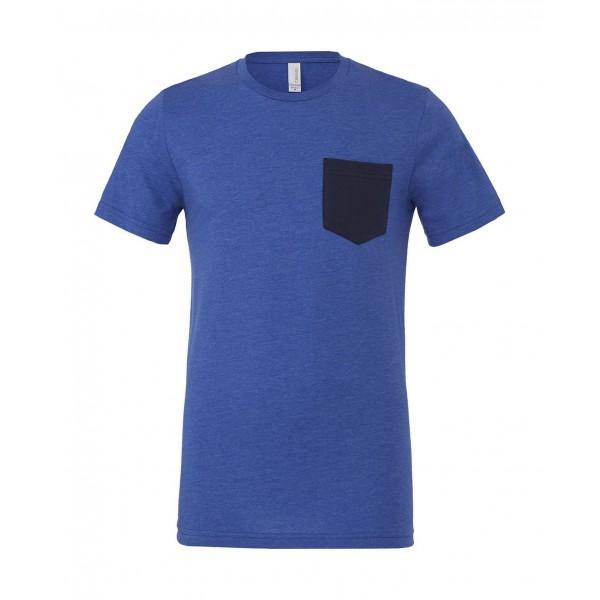 T-shirt - Kungsblå med Marinblå ficka
