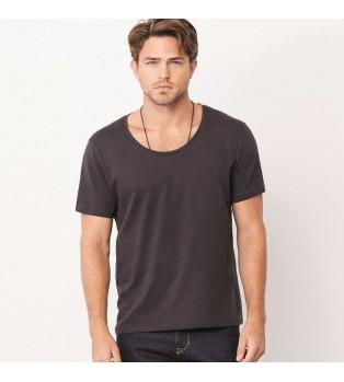 T-shirt med bred hals