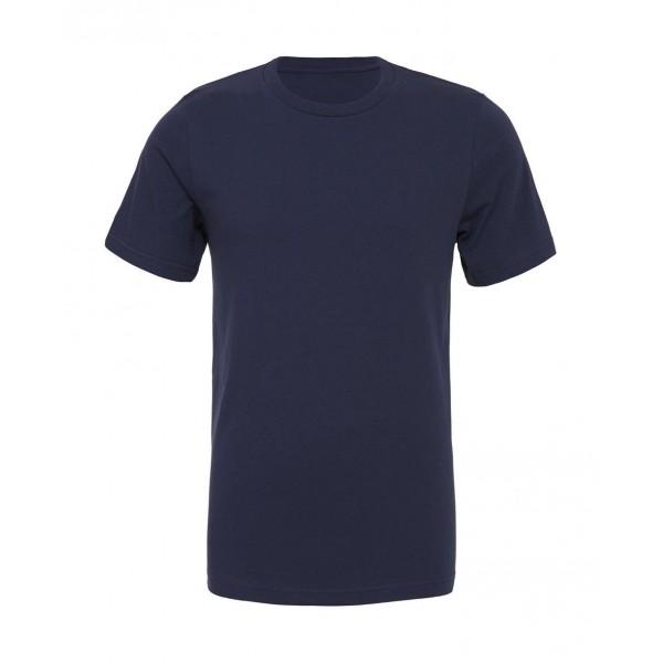 Modern Unisex T-shirt - Marinblå Marmor