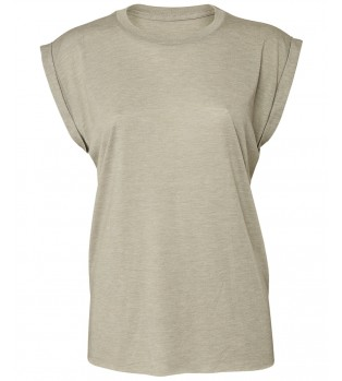 Dam T-shirt med Upprullade Ärmslut