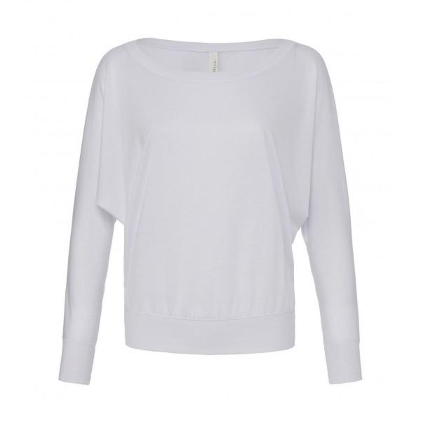 Baraxlad Långärmad Dam T-shirt - Vit