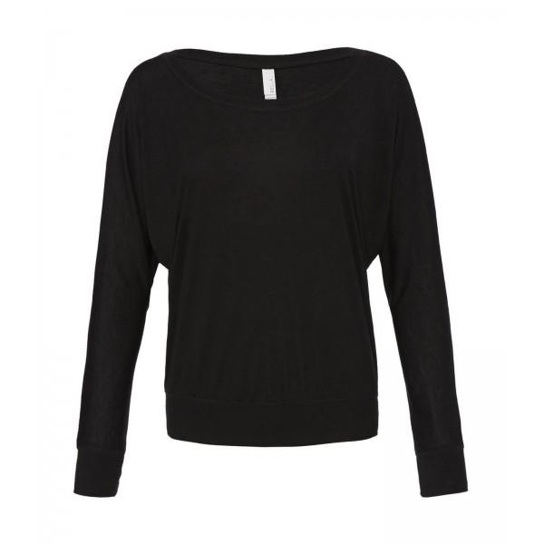 Baraxlad Långärmad Dam T-shirt  - Svart