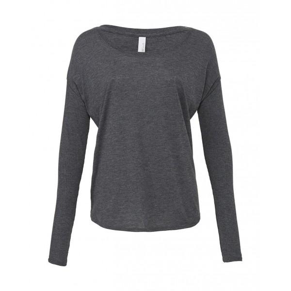 Böljande T-shirt - Mörk Grå Heather
