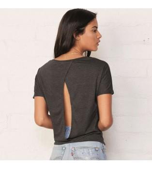 Dam T-shirt med Öppen Rygg