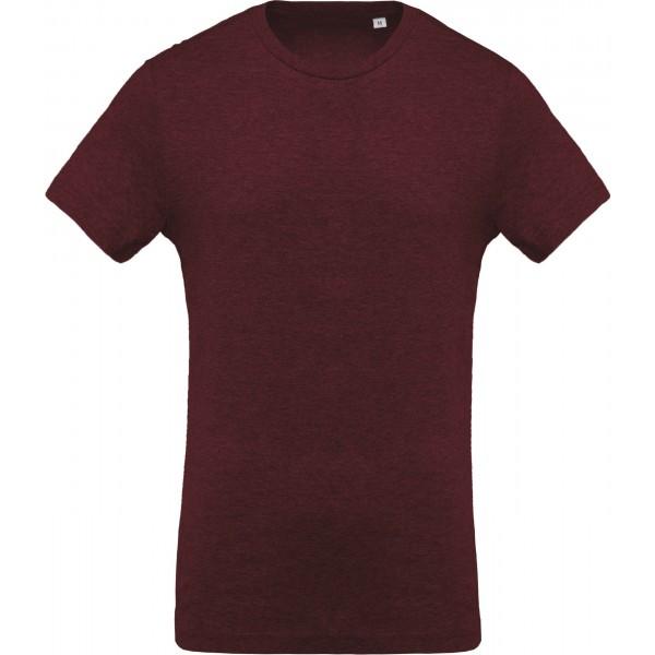 Organisk T-shirt - Vinröd