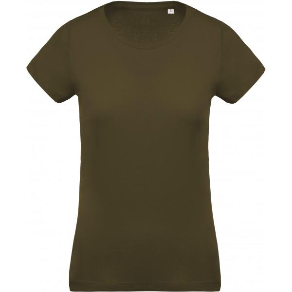 Organisk Dam T-shirt - Mossgrön