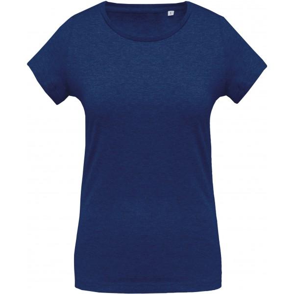 Organisk Dam T-shirt - Havsblå