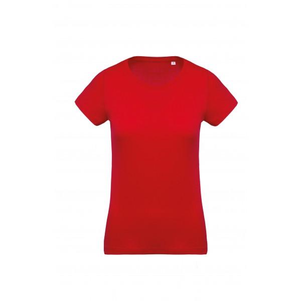 Organisk Dam T-shirt - Röd